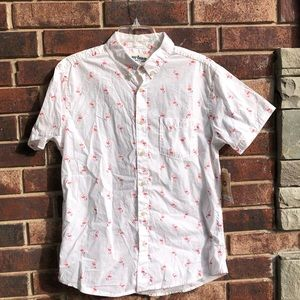 NWT Urban Pipeline Pink Flamingo Button Shirt Med